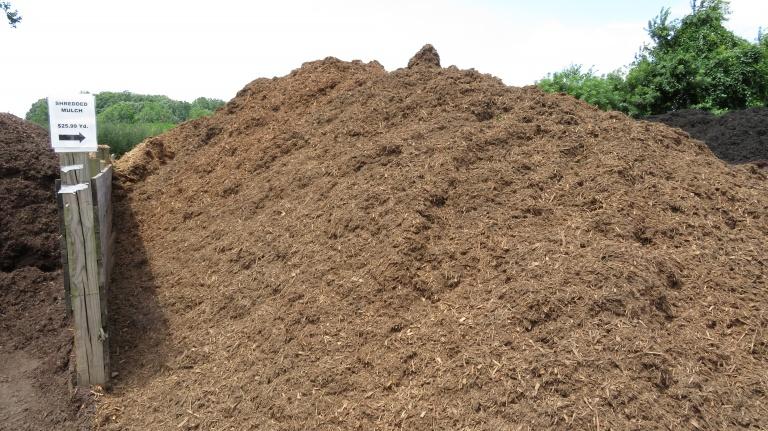shredded mulch