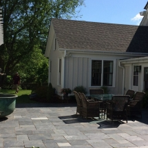 house stone patio