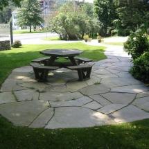 stone picnic path